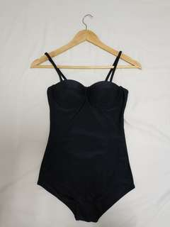Pre-loved Black Low Back Swimsuit