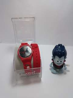 101% Original Brand New Swatch Watch Red Wrap Around  Strap
