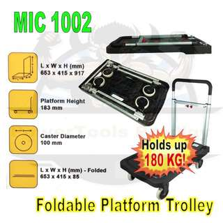 [NEW] FULLY FOLDABLE 180KG PLATFORM TROLLEY / HAND TRUCK