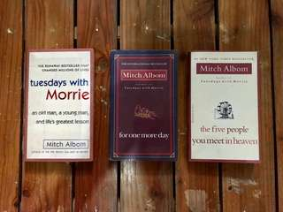 Mitch Albom Books! Take all for 350 only!