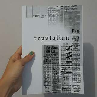Taylor Swift Reputation NoteBook