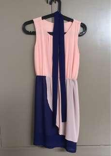 Slip-on chiffon dress