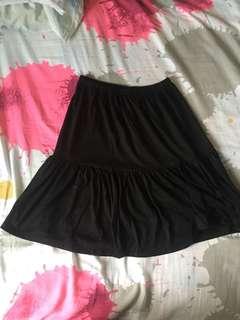 PYT Stretchable Black Skirt