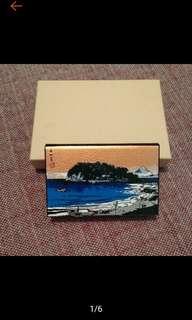 🚚 全新 日本帶回 神奈川県 磁鐵名片盒 名片盒