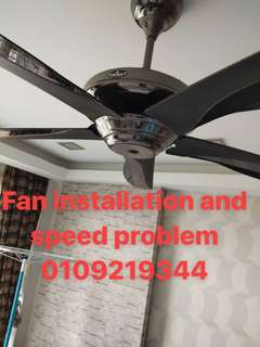 Fans repairing and speed problem