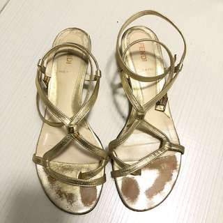 Fendi low wedge Sandals