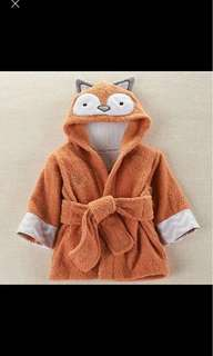 Fox terry towel dressing gown