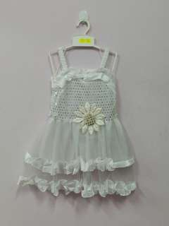 White Angel Flower Girl Kid Dress