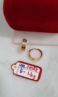 Earring's 18k Saudi Gold