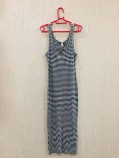 H&M Long slim dress