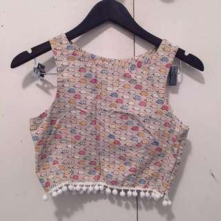 CROP TOP patterned