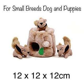 BRAND NEW SMALL Junior Outward Hound Hide-A-Squirrel Dog Squeaker Toy