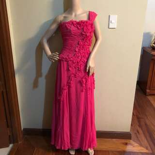 Ronald enrico pink gown