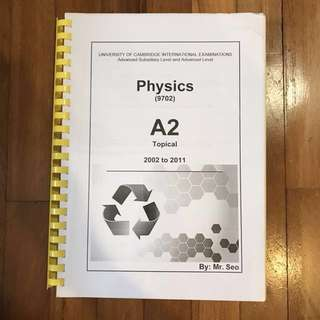 PHYSICS A2 Topical Past year questions