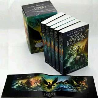 Percy Jackson and the Olympians by Rick riordan book (Free Shipping!)