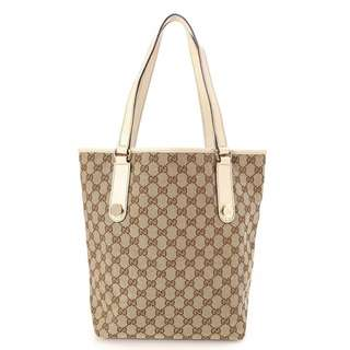 gucci gg canvas charmy tote 153009 002058 repriced to 1400