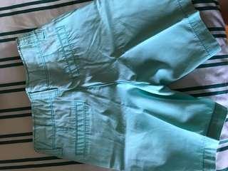aqua green shorts