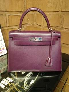 Hermes kelly 28 epsom raisin