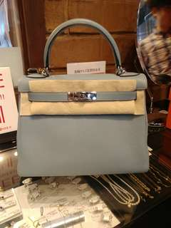 Hermes kelly 28 bluelin