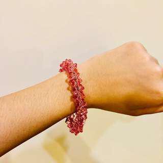 Swarovski Inspired Pink Crystal bracelet (replica)