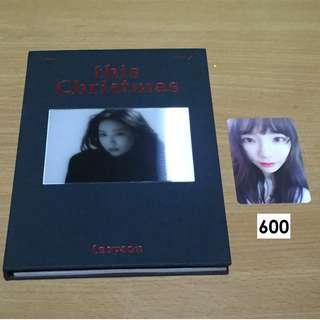 (ONHAND AND UNSEALED) TAEYEON THIS CHRISTMAS ALBUM