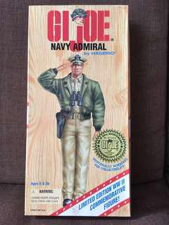 1990's G.I. Joe WWII 50th Anniversary Commemorative Edition US Navy Admiral Action Figure
