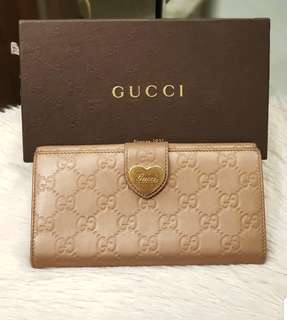 Guccissima Nude Pink Trifold Wallet ❤️BIG SALE P13k ONLY❤️ In very good condition With box Swipe for detailed pics