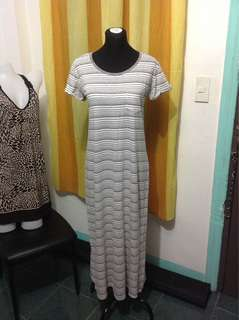 Striped Maxi Dress Large frame