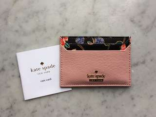 Kate Spade Card Holder 碎花