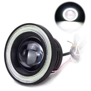 3200LM Car COB LED Angel Eyes Fog Lamp
