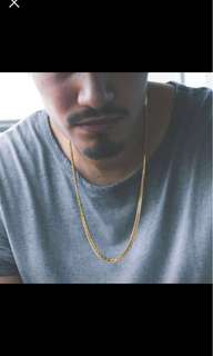 Cuban link gold chain necklace