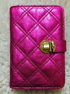 Authentic Marc Jacobs Quilted Agenda in Metallic Pink