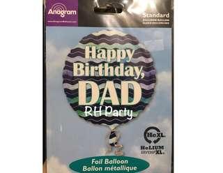 (12/6) include helium happy birthday dad foil balloon ( boy / boyfriend / father / dad )