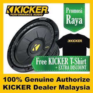 "KICKER CompS 10"" Single 4 Ohm Subwoofer 600w"