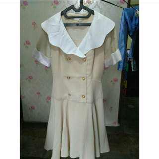 PROMO❣ Dress Cream Wanita