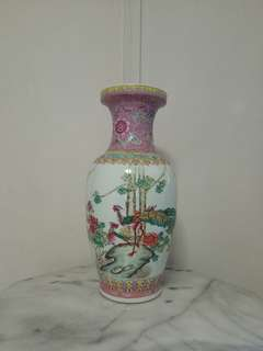 Classic Porcelain With Enamel Painting Pair Of Phoenix And Peony Height 47cm Perfect
