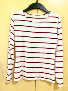 White & red long sleeves