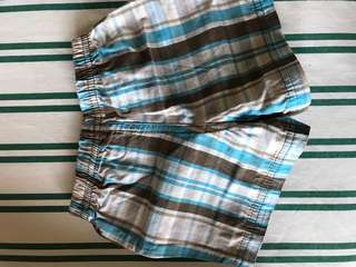 checkered garter shorts