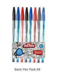 Smiggle Basic Pen Pack 8pcs