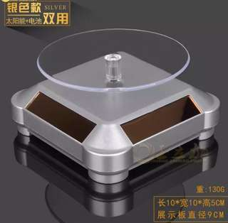 SOLAR AND BATTERY DOUBLE POWERED 360 ROTATING DISPLAY STAND