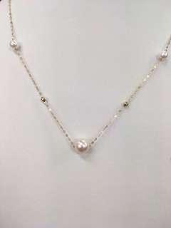 18k  akoya[玫瑰]珍珠项鏈