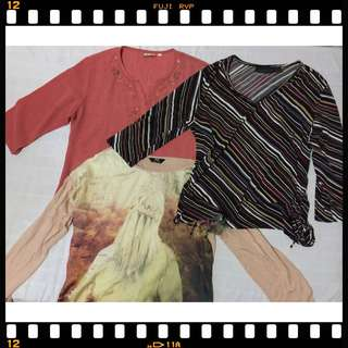Blouses 3 for 99php