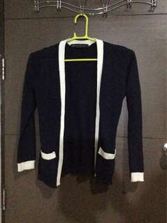 Navy Blue Knitted Cardigan