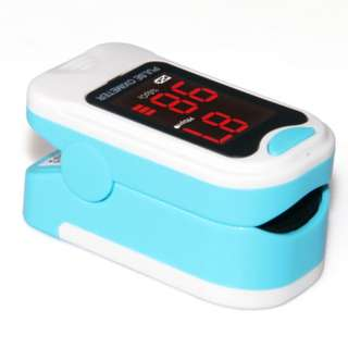 🚚 LED Pulse Oximeter with Heart Rate Monitor includes Pouch & Lanyard (Blue)