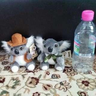 Koala plushie with tag.