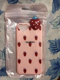 STRAWBERRY CASE FOR IPHONE 8PLUS