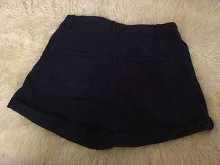 H&M High Waist Shorts - Navy Blue
