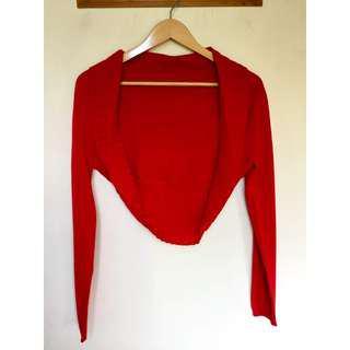 所有商品皆可議價‼️ 穿過一次 紅色針織小外套