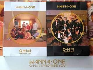 WANNA ONE hand signed 0+1=1 album
