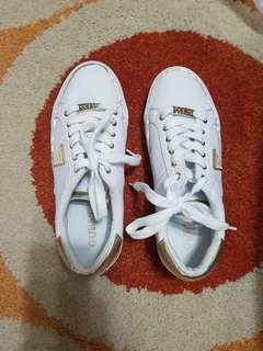 Guess white shoes